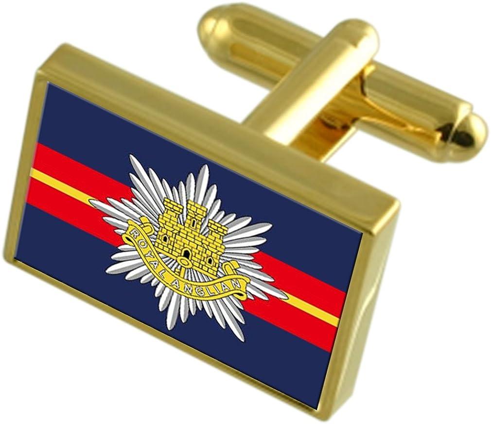 East Anglian Financial sales sale Regiment supreme Military England Cufflinks Gold-tone Flag
