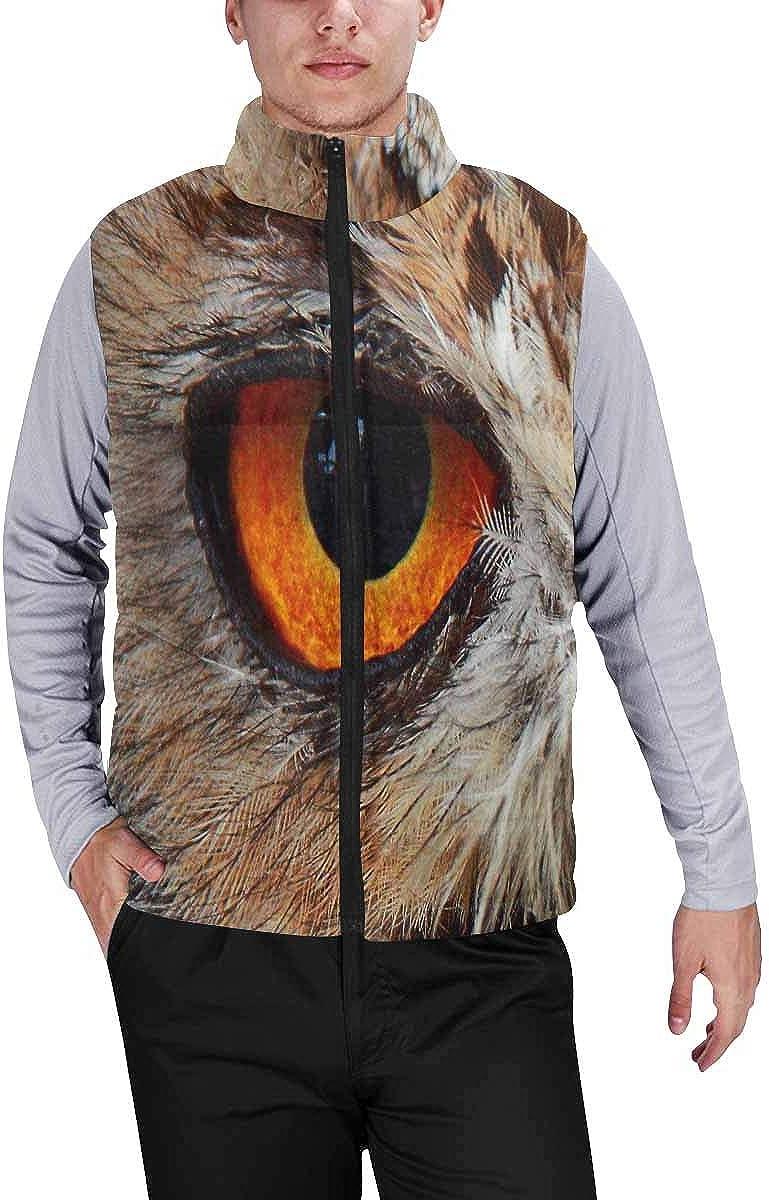 InterestPrint Men's Winter Warm Outdoor Padded Puffer Vest Ottoman Motifs