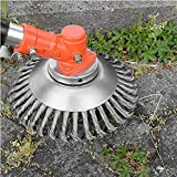 Fulltime(TM) 8 Inch Weed Trimmer Brush, Steel PRO Garden Weed Brush Lawn Mower Razors Lawn Mower Eater Trimmer Lawn Mower Grass Weed Eater Brush Cutter Tool