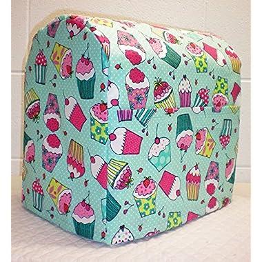Teal Cupcake Kitchenaid Stand Mixer Cover (All Teal Cupcake, 4.5/5qt Tilt Head)