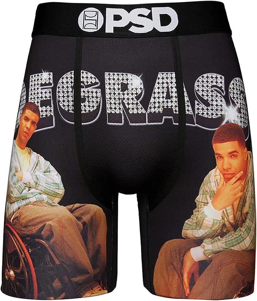 PSD Underwear Men's Stretch Elastic Wide Band Boxer Brief Underwear Bottom - Degrassi TV Series | Breathable, 7 inch Inseam |