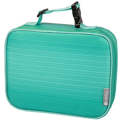 Bentology Lunch Box for Girls - Kids Insulated Lunchbox Tote Bag Fits Bento Boxes - Turquoise