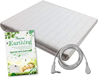 TALC Earthing Sheet, Earthing Grounding Sheets for EMF Protection with Conductive Silver Fiber Mat, Improve Your Sleep, Less Pain, Healthy Earthing Energy, Natural Wellness(Sheet 36 90inch)