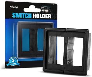 Nilight LED Light Bar Rocker Switch Holder Panel Switch Holder Housing Kit ABS Plastic Black Automotive Mount Toggle Switch Housing,2 years Warranty