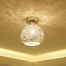 DORLIONA Modern Ceiling Lighting Flushmount Light Fixture for Bedroom Bathroom