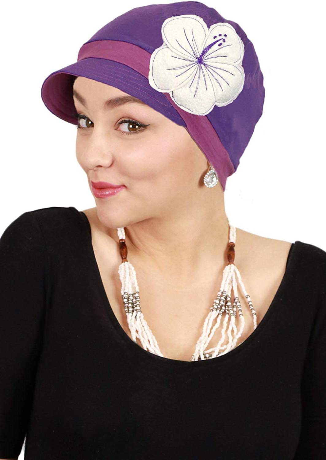 Chemo Hats for Women Cancer Headwear Head Coverings Cute Baseball Caps Soft and Stretchy Cotton