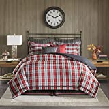 Woolrich Williamsport Plaid Comforter Set Red Queen