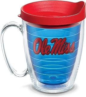 Tervis 1085317 Ole Miss Rebels Logo Tumbler with Emblem and Red Lid 16oz Mug, Blue