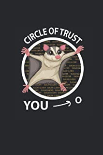 """Circle Of Trust: Sugar Gliders Notebook, Graph Paper (6"""" x 9"""" - 120 pages) ~ Animal Themed Notebook for Daily Journal, Dia..."""