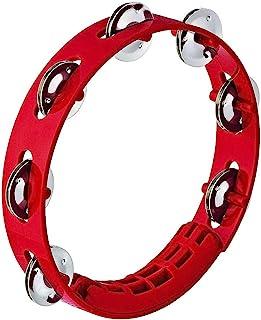 "NINO Percussion Compact ABS Tambourine 8"" - Red (NINO49R)"