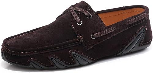 IWGrößeder Herren Driving Penny Loafers Schnüren Sie Sich aus echtem Leder Stiefel Mokassins Flache Weißhe Sohle Kleid Schuhe Schuhe