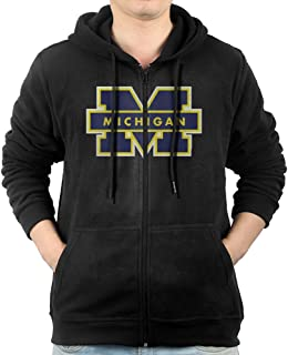 Fashion Hoodies For Mens Michigan Wolverines Football Jim Harbaugh Sweatshirts Zip-Up