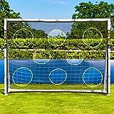 Lona de Entrenamiento de Fútbol | Equipamiento de Entrenamiento Indispensable (No Se Incluye Postes) [Net World Sports] (2,4m x 1,8m)