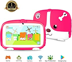 $59 Get Tablet for kids , Android 6.0 Kids Tablet with WiFi Learning Games Kids Mode Pre-Installed Parental Control Education 7 Inch Quad Core Tablet Safety Eye Protection Screen 1G/8G