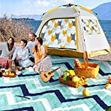 Outdoor Sandproof Waterproof Picnic Blanket, Extra Large 80' x 80' Foldable Machine Washable Mat for Indoor Crawling Blanket, Park, Travel, Camping, Beach Blanket