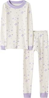 Moon and Back by Hanna Andersson 2 Piece Long Sleeve Pajama Set Unisex niños, Pack de 2