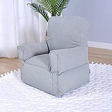 Pigro Mini di Pelle Divano di Capretto Cuoio Imbottito Poltrona per Gioco Relax V/&K Seduta Divano per Bambini Verde