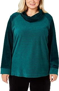 Sports Womens Plus Fitness Active Wear Sweatshirt Green 3X