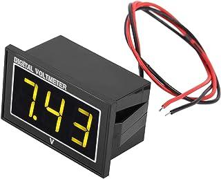 Voltmeter, 1-part digital 0.56-inch LED display Waterproof high-precision voltmeter DC voltage measuring panel (DC5-130V y...