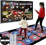 JFJL rutschfeste Tanz-Step-Tanzmatte USB HD, TV AV Videospiel Dance Mats Pads, Musikspielmatte für Erwachsene/Kinder, Tanzteppich Double Wireless 3D somatosensorisch
