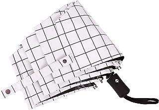 折りたたみ傘 ワンタッチ自動開閉 軽量 日傘 uvカット 耐風撥水 晴雨兼用 収納ポーチ付き 100遮光 傘 8本骨 格子