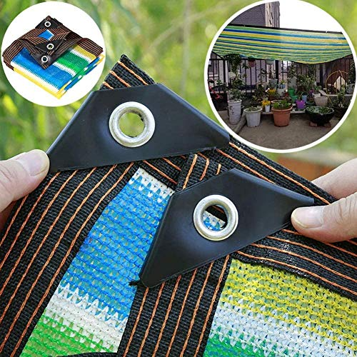 H.ZHOU - Funda para sombra de privacidad con ojales y protector de esquina, para patio, toldo, ventana, pérgola, cenador, rayas, color 3 m x 6 m, H00120