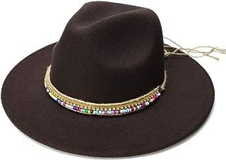 HongJie Hou Wool Fedora Hat Hawkins Felt Cap Wide Brim Ladies Cap Chapeu Feminino Hat Women Men Jazz Church Godfather Sombrero Caps