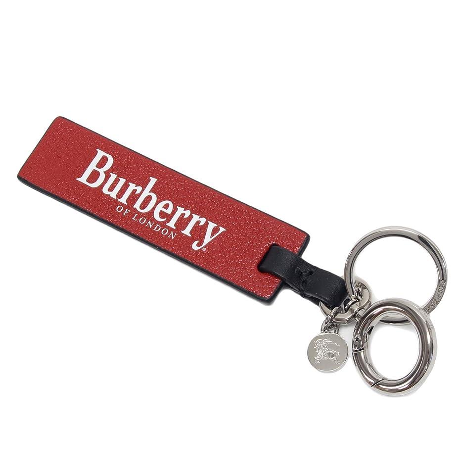 入植者者等々(バーバリー)BURBERRY BURBERRY TAG CHARM ロゴプリント レザーキーリング【RUST RED×BLACK】8006739 RUST RED/BLACK [並行輸入品]
