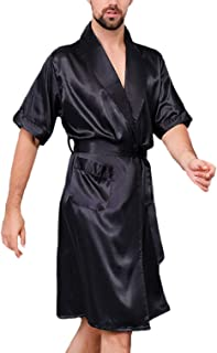 HX fashion Men's Nightwear Summer Breathable Comfortable Homewear Pajama Set Short Comfortable Sizes Sleeve V-Neck Printed...
