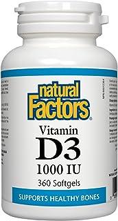 Natural Factors Vitamin D3 1000 IU, 360 Capsules