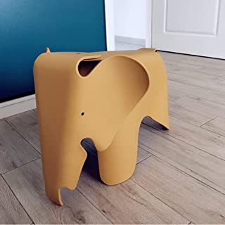 Paddia Creative Environmental Protection Lovely Children s Elephant Plastic Low Stool Contemporary Design Kids Furniture Toy Chair Multicolor  Color Yellow