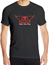 For Men Aerosmith - Walk This Way Dri-Fit Short-sleeve Sport Yoga Tee Shirts