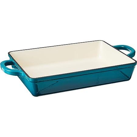 Crock Pot Artisan 13 Inch Enameled Cast Iron Lasagna Pan, Teal Ombre