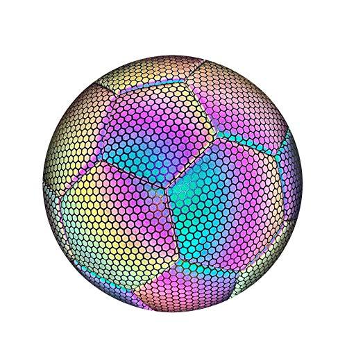 Stronrive Leuchtender Fussball Größe 5 Leuchtfussball Leuchtball Glow In The Dark Fußball für Erwachsene und Kinder, Perfekt für Normales Spiel, Aufführungen, Trainingsball