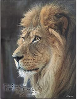 The Lion of the Tribe Of Judah Has Triumphed Revelation 5:5 Wood 13 x 10 Wall Art Plaque