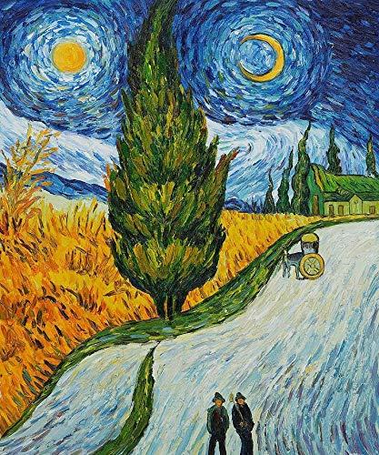 Puzzle 1000 Piezas La Famosa Serie de Pinturas de Van Gogh réplica 5 Imagen artística Puzzle 1000 Piezas Adultos Juego de Habilidad para Toda la Familia, Colorido Juego de ubi50x75cm(20x30inch)