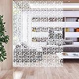 LAMPTOP - 12 pannelli divisori pieghevoli da appendere, pannelli decorativi per casa, hotel, ufficio, bar, sala da pranzo, 29 cm x 29 cm