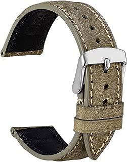 18mm 20mm 22mm Nubuck Leather Watch Band,Unisex Casual Wristwatch Strap