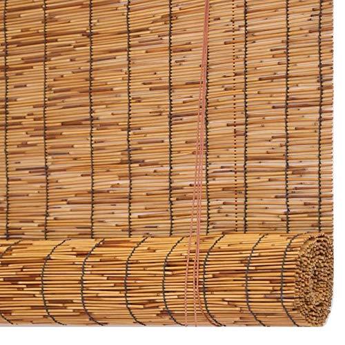 Karbonisierung Bambus Roll Up Fenster Reed Vorhang, Natürliche Rollos Balkon Trennwand, Licht Filterung Vertikale Aufzug Dekoration, Innenbeschattung, Durchscheinend