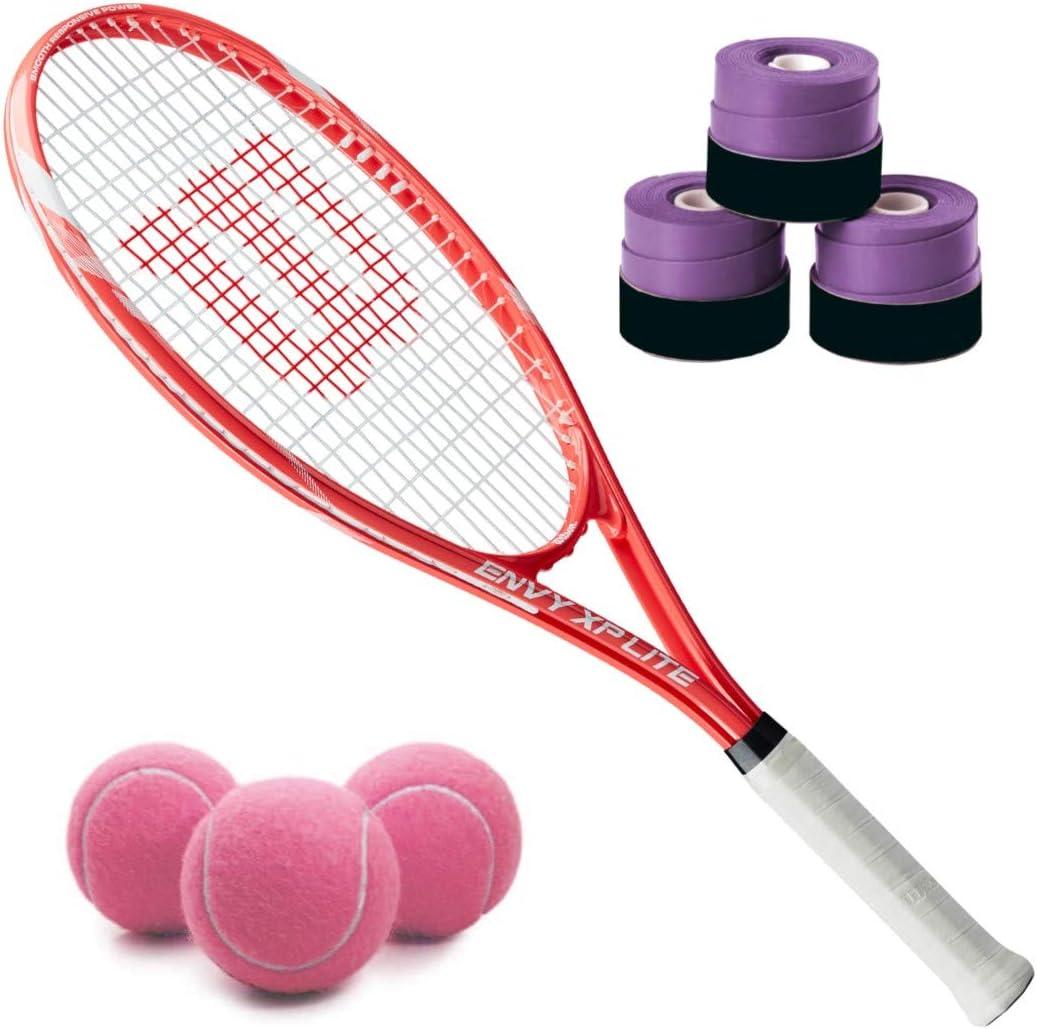 Wilson Envy Tulsa Mall XP Lite Pre-Strung Gorgeous Recreational o Racquet Set Tennis