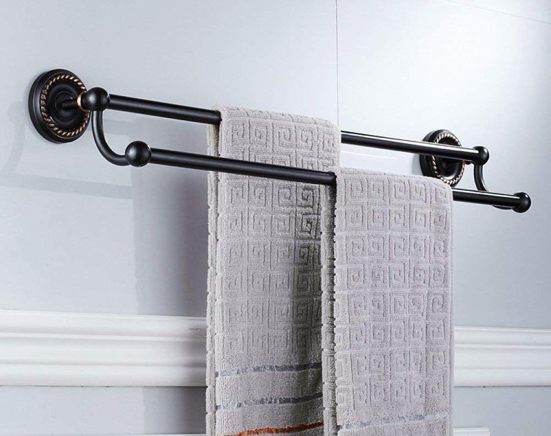 Towel Rack Towel Rack Black Bathroom Wall-Mounted Towel Rack Hardware Accessories Bathroom Double Towel Rack Copper Black Bronze Towel Rack Set Bathroom Towel Shelf
