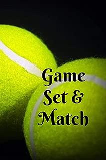 Game Set & Match: Green & black sport themed tennis ball lined notebook jotter