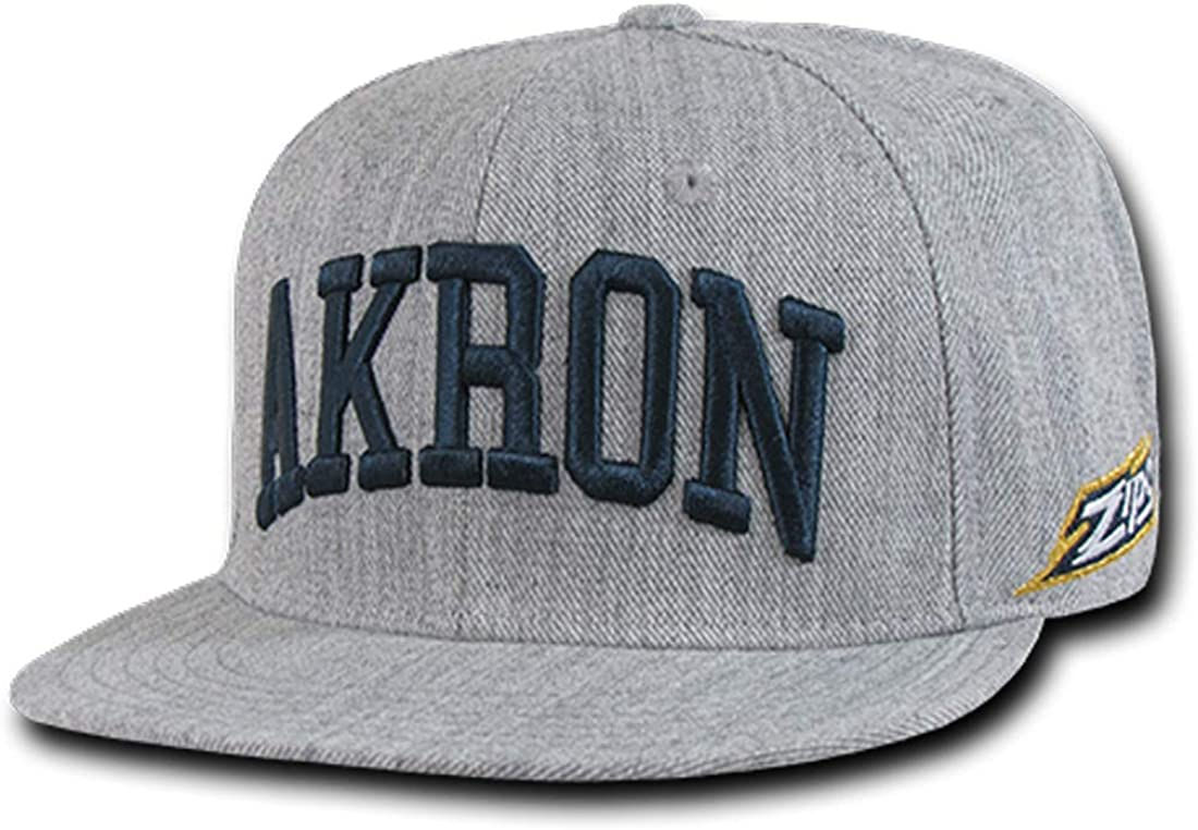 The University of Akron Zips NCAA Game Day Fitted Baseball Cap Hat - 7 1/4 Heather Grey