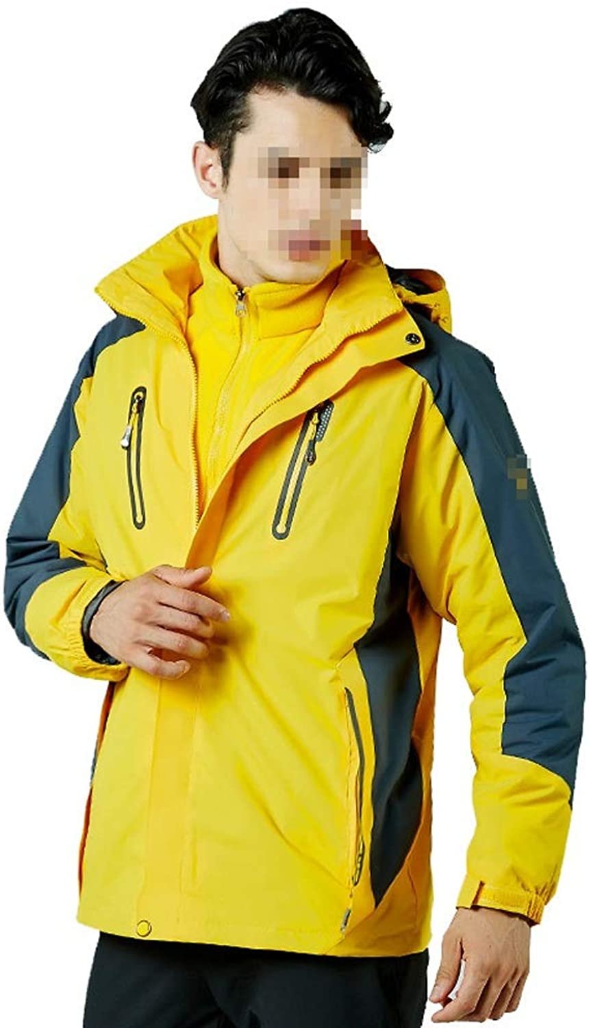 Outdoor Sport Ski Jacket Windproof Hooded with Inner Warm Fleece Coat,Comfortable and Warm