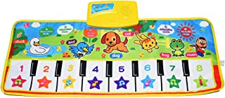 KAREZONINE Piano Mat, Kids Keyboard Mat Playmat Education Toy Birthday Christmas Easter Day Gift for Kids Boys Girls