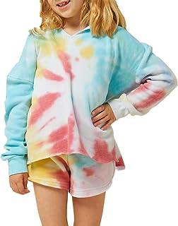 DUOLIFU Big Big Girls Tie Dye 3D Printed Hoodie Sweatshirts Jacket Pullover Hoodies