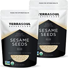 Terrasoul Superfoods Organic Hulled Sesame Seeds, 4 Lbs (2 Pack) - Perfect for Tahini | Gluten-free | Raw