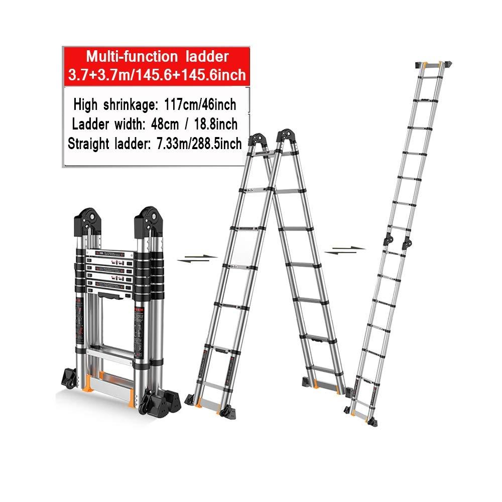 XSJZ Escalera de Extensión Multifunción, Plegable Retráctil Escalera de Aluminio de Gran Tamaño, Larga Y Adecuada Escalera Adecuada para Escaleras de Escalada En Construcción Escalera Plegable: Amazon.es: Hogar