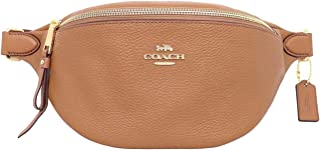 COACH Fanny Pack in Pebble Leather (BROWN)