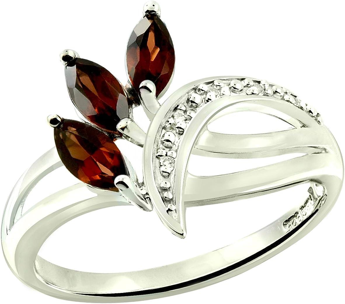 RB Gems Sterling Silver 925 Ring Genuine Gemstone 0.84 Sale price wit Carat Regular discount
